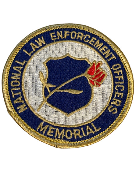 NATIONAL LAW ENFORCEMENT OFFICERS MEMORIAL  PATCH FREE SHIP!