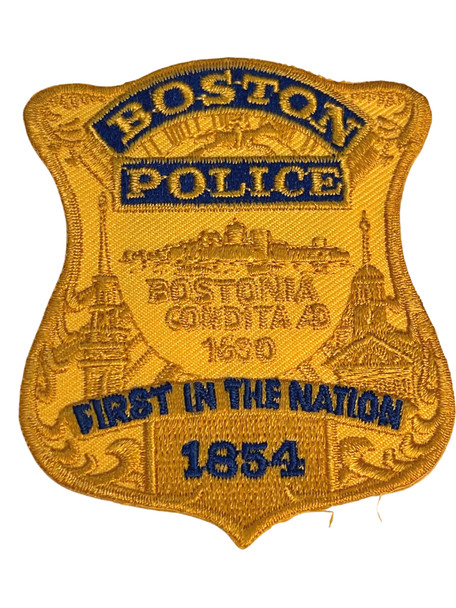 BOSTON POLICE MA BADGE #2 PATCH FREE SHIP!