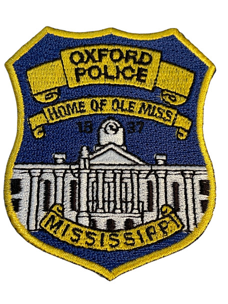 OXFORD  POLICE INSTITUTE MS PATCH FREE SHIPPING!