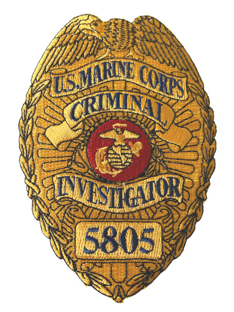 US MARINE CORPS CRIMINAL INVESTIGATOR 5805 MOS PATCH RARE
