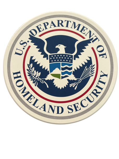 DEPT. OF HOMELAND SECURITY Round Absorbent Stone Coaster