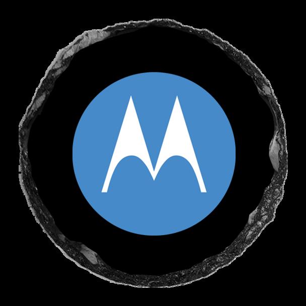 """Motorola 4"""" Round Slate Coaster"""