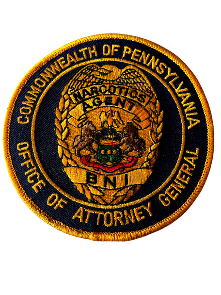 PENNSYVANIA ATTORNEY GENERAL NARCOTICS AGENT PATCH