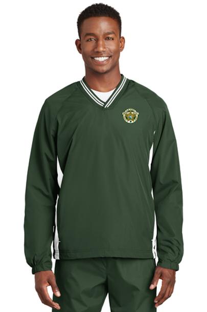 Clay Sheriff Sport-Tek® Tipped V-Neck Raglan Wind Shirt