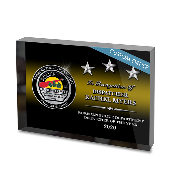 CUSTOM ACRYLIC BLOCK RECOGNITION AWARD (WPABSD) - PERSONALIZED