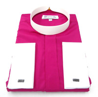 Banded Collar Clergy Shirt IN Roman Purple