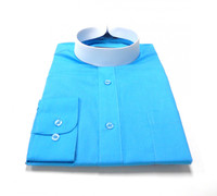 Turquoise Banded Collar Bishop Clergy Shirt From Divinity