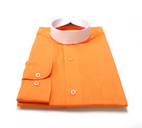 Orange Banded Collar Bishop Clergy Shirt From Divinity