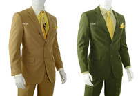 2-Button Basic Solid Suit By Vittorio St Angelo - 20 Colors Available