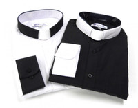 Custom Two-Tone Tab Collar Clergy Shirt Set