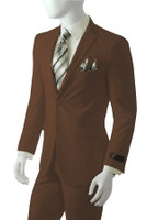 CLEARANCE:  Solid Suit In Brown