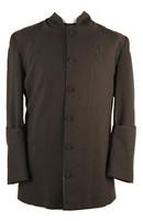 001. Trinity Clergy Jacket For Men In Black On Black