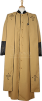 004.  Men's Asbury Clergy Robe & Stole Set In Gold & Black