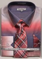 01. DS3795P: Designer Dress Shirt, Tie, Handekerchief, & Cufflink Set - (6) Colors Available