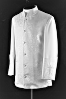 001. Men's Gershon Clergy Jacket In White