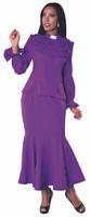 01. Ladies 2-Piece Preaching Skirt Set In Purple