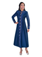 07. Ladies 1-Piece Preaching Robe Dress In Navy