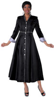 05. Ladies 1-Piece Preaching Dress In Black & Silver