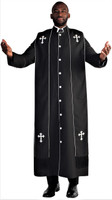 Men's Paul Clergy Robe In Black & White