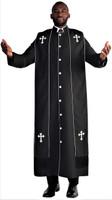 Men's Paul Clergy Robe In Black & White