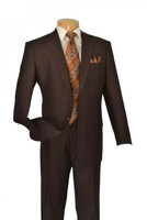 Brown 2-Piece Single Breasted Single Pleat Suit