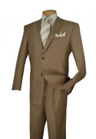 Khaki 2-Piece Single Breasted Single Pleat Suit