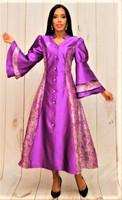 02. Ladies 1-Piece Preaching Robe Dress In Purple