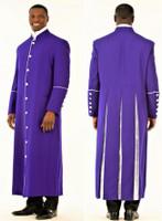006. Men's Adam Clergy Robe in Purple & White