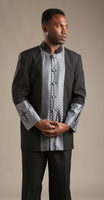 01. The Joseph Clergy Suit In Black & Silver