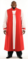 Men's Traditional Chimere In Red