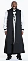 Men's Pastor Vestment In Black - 8 Pieces Included