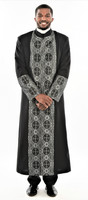 006. Men's Joseph Clergy Robe In Black & Silver