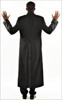 006. Men's Joseph Clergy Robe In Black on Black