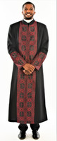 006. Men's Joseph Clergy Robe In Black & Red