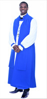 0001. Overseer Vestment In Royal Blue - 6-Pieces Included