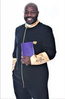 002. Men's Asbury Clergy Jacket In Black & Gold