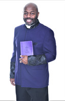 002. Men's Asbury Clergy Jacket In Purple & Black