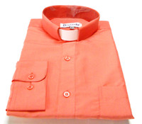 Tab Collar Affordable Clergy Shirt In Coral