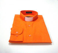 Tab Collar Affordable Clergy Shirt in Orange
