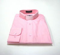 Tab Collar Affordable Clergy Shirt in Pink