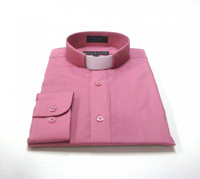 Tab Collar Affordable Clergy Shirt in Rose