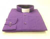 Tab Collar Affordable Clergy Shirt in Purple