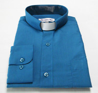 Tab Collar Affordable Clergy Shirt In Teal