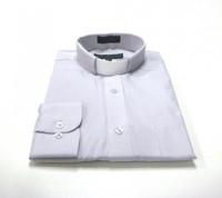 CLEARANCE 101: SHORT SLEEVE Tab Collar Clergy Shirt - SILVER