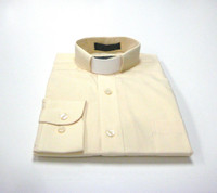 CLEARANCE 101: SHORT SLEEVE Tab Collar Clergy Shirt - SOFT BUTTER