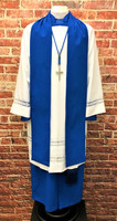 0001 Non-Denominational Vestment in Royal Blue - 6 Pieces Included