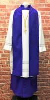 Men's Non-Denominational Vestment in Purple - 5 Pieces Included