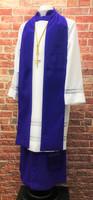 0001 Non-Denominational Vestment in Purple - 6 Pieces Included