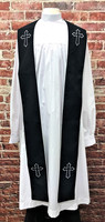 001. Trinity Clergy Stole in Black & White