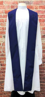 001. Trinity Clergy Stole in Purple & Black